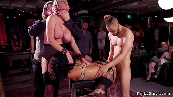 Slaves whipping and rough fucking