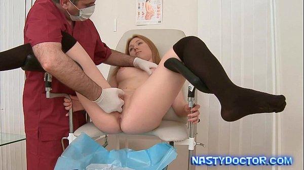 Ginger Teen Sucks Doc Cock