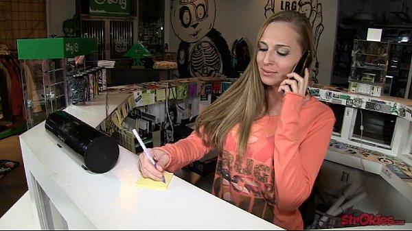 Slutty Secretary Roxie Rox Handjob