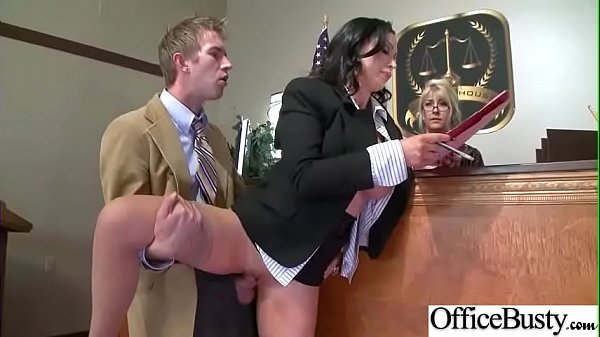 Horny Busty Girl (Nikki Benz) In Hard Style Banged In Office video-20