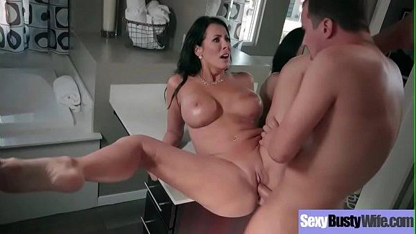 Big Round Boobs Wife (Reagan Foxx) Banged Hard Style In Sex Tape vid-22