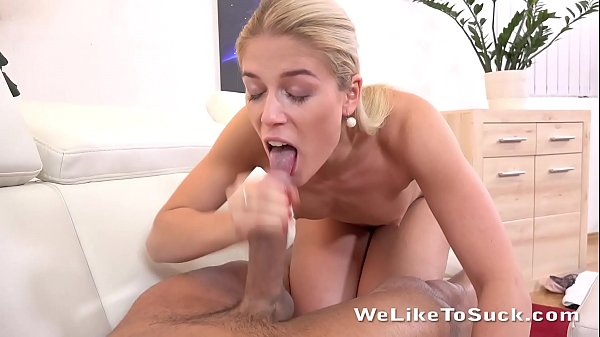 Weliketosuck - Pretty blonde Sweet Cat sucks cock like a professional