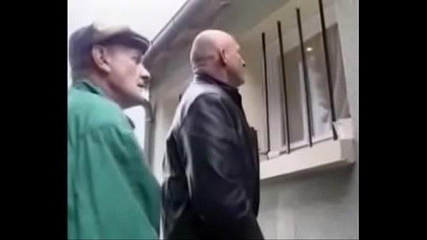 Old bastards fuck French girl