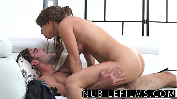 Passionate pussy pounding for brunette babe