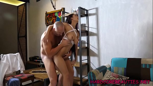 This Euro hottie with big tits is crazy for fucking