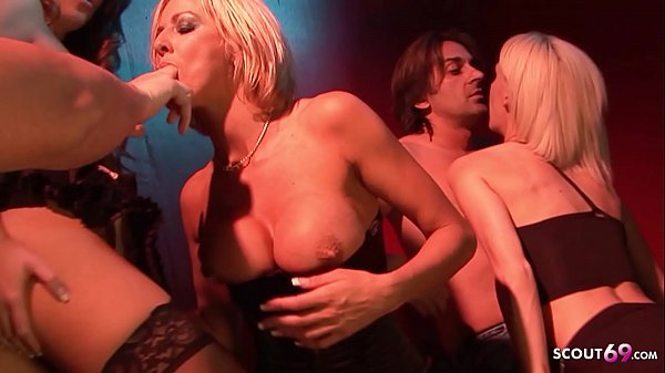 Rough Anal Sex for 5 Hot Teens at Sex Party in Disco