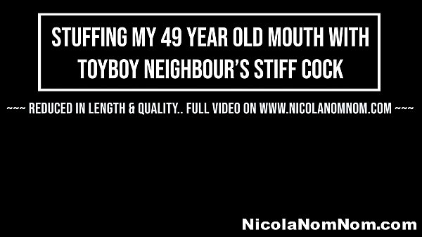 Stuffing My 49 Year Old Mouth With Toyboy Neighbours Stiff Cock