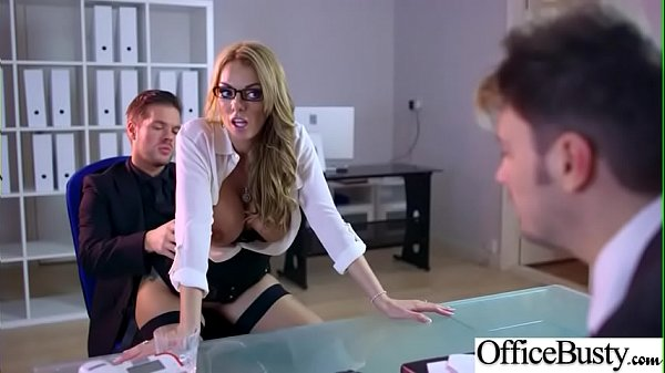 (Stacey Saran) Busty Slut Office Girl Love Hardcore Sex clip-29