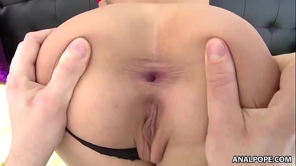Evelin gags on a monster dick before rides it