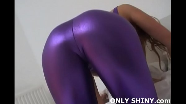 I got these purple PVC panties just to tease you