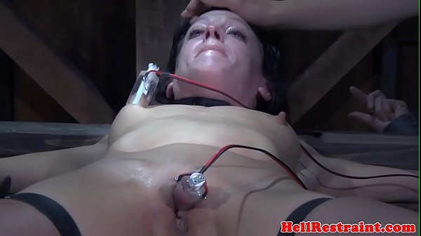 Bounded bdsm sub throated and toyed
