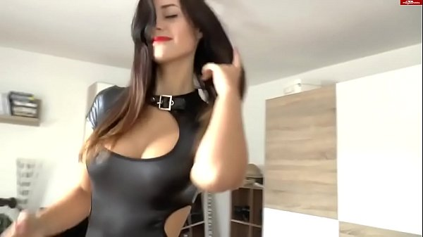 Fuck with girl in latex (home porn, cum on ass, cool tits)