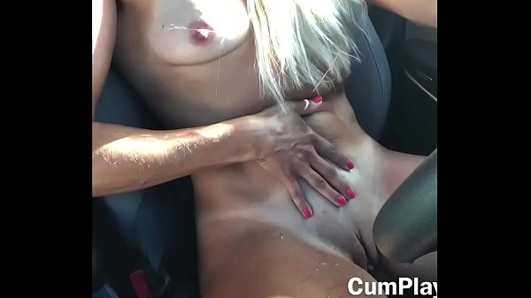 Hot MILF Slut Touches Her Pussy In Public While Driving Squirts All Over The Car