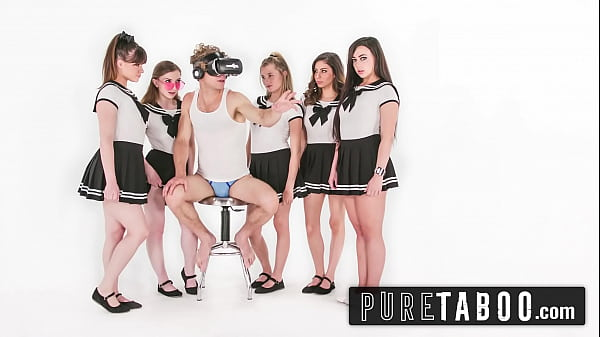 Michael Vegas Has VR Orgy with Babes in School Uniforms Thumb