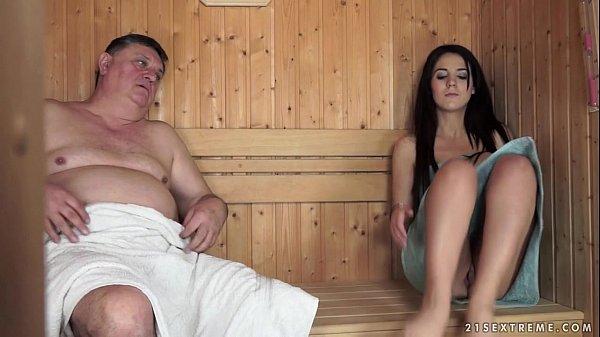 Horny Grandpa Fucks The Tiny Bella Beretta Thumb