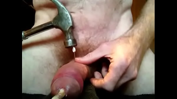 Deep sounding and piercing of cock shaft