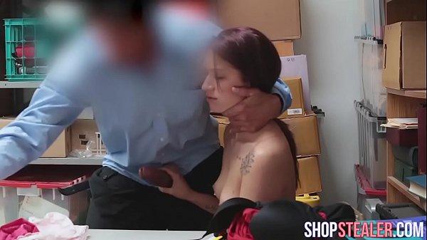 Seductive Burglar Naiomi Mae Gives Head and Pussy Stuffed
