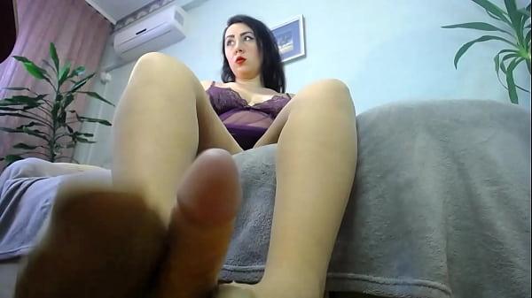 foojob in nylon pantyhose from hot long legs milf