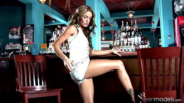 Veronika Fasterova at the bar