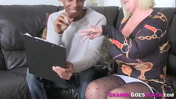 Eaten out old lady gets ass pounded