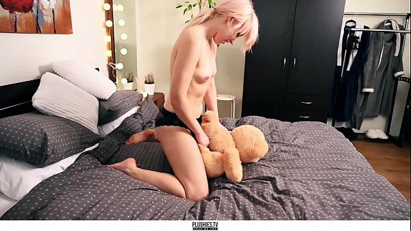 Adora and teddy bear, beautiful strapon sex with studded a. toys