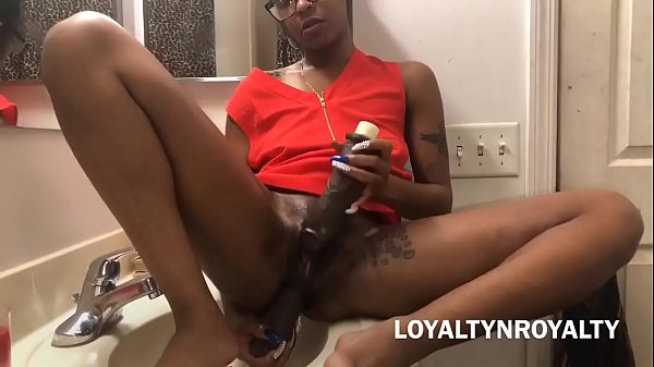 Hood Chick Fucks 2 Dildo's and a KING DICK! In Her Asshole & Pussy!