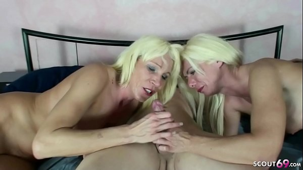 YOUNG BOY SEDUCE TO FUCK BY TWO GERMAN MILFs in...