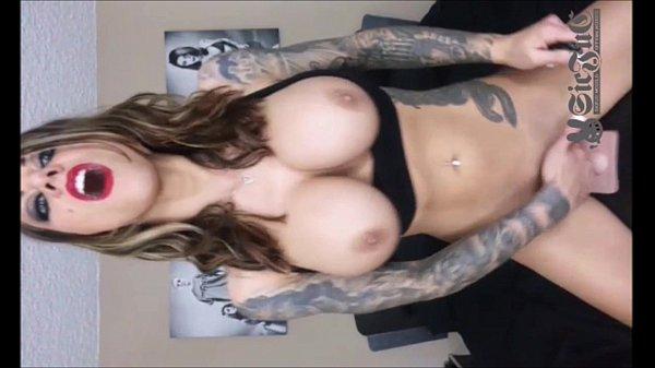 Tattoo TEEN Karma Rx on Sybian Sex Machine DOUBLE PENETRATION Thumb