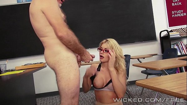 Wicked – Hot blonde teacher Riley Steele takes a big load