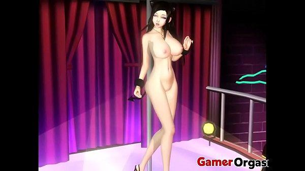 GamerOrgasm.com | Big Tits 3D Catgirl Stripper