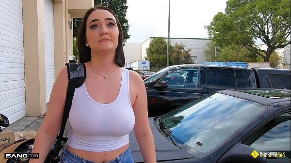 Roadside - Natural Busty Teen Fucks Car Mechanic