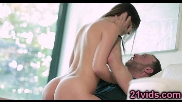 Gorgeous young brunette Susan Ayn riding cock