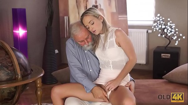 OLD4K. Pretty blonde with perfect body makes love to old dude