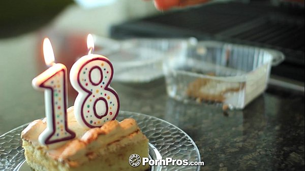 PornPros - Cassidy Ryan celebrates her 18th birthday with cake and cock Thumb