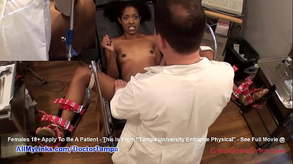 Ebony Student Hottie Lotus Lain's Gyno Exam Caught On Spy Cam By Doctor Tampa @ GirlsGoneGyno.com! - Tampa University Physical