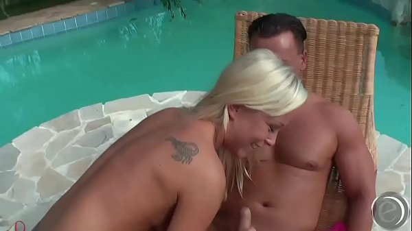 Jessica Moore sunbathes and sperm lotion from Lauro Giotto
