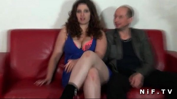 Chubby french amateur brunette hard fucked in f...