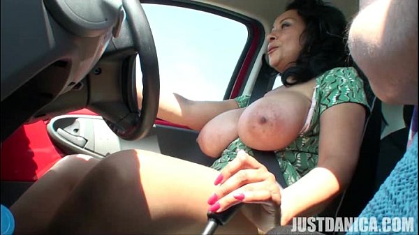 Danica Collins (Donna Ambrose) Get Naked While Driving