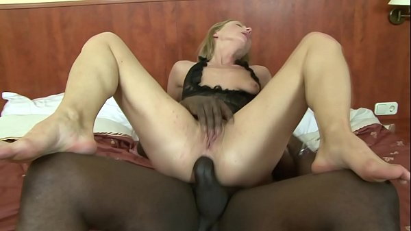 European MILF gets fucked in the ass by big black cock