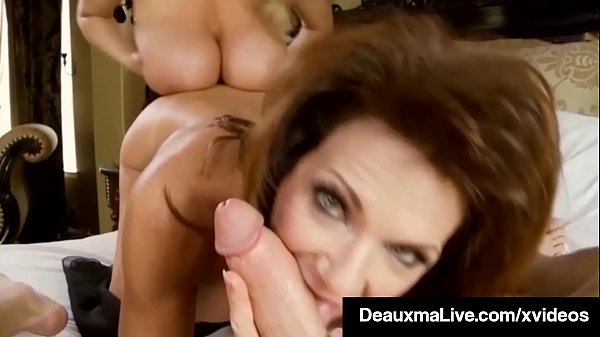 Sexy Milf Deauxma Blindfolds Kelly Madison & Fucks Hubby