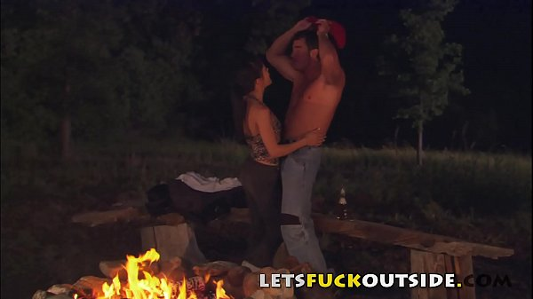 Lets Fuck Outside - Petite Brunette Fucked Around a Camp Fire Thumb