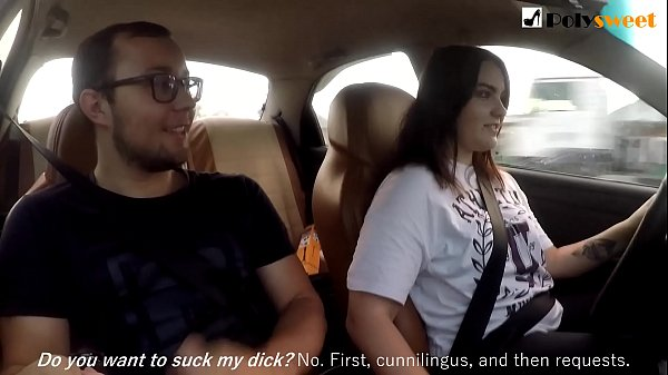 Girl jerks off a guy and masturbates herself while driving in public (talk) Thumb