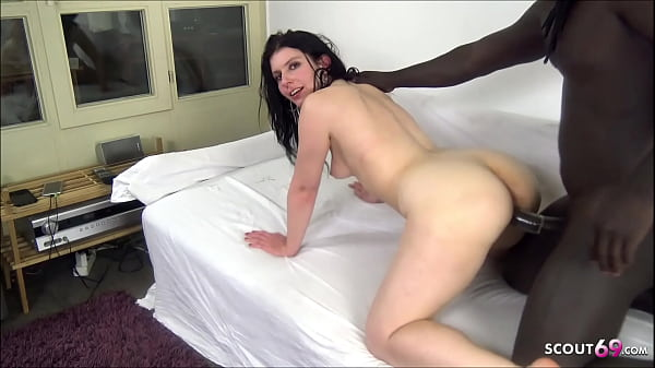 First Black Monster Cock for German Girl at real Homemade