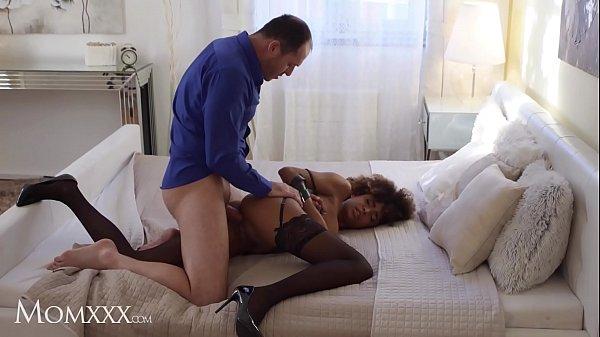 MOM.XXX Interracial bondage fantasy with ebony latina milf Luna Corazon