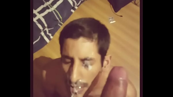 Gay Cum on my face by a monster cock