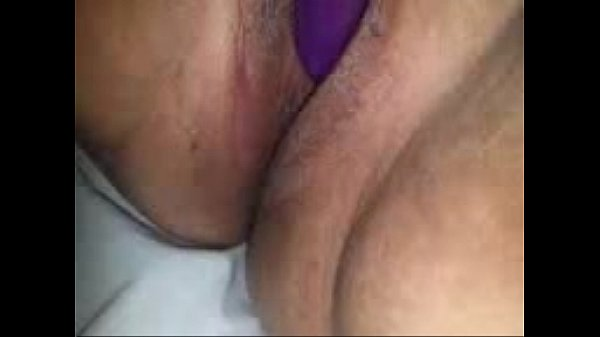 Vibrator on her pussy