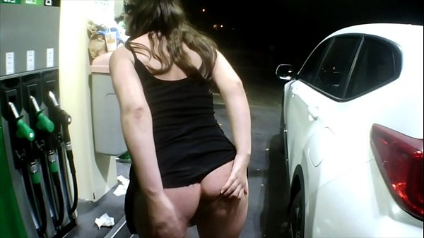 Flashing at the gas station