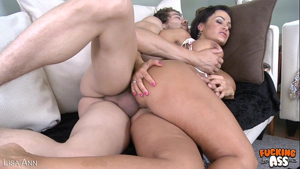 Hot brunette Lisa Ann gets ass fucked