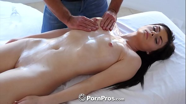 PORNPROS Oiled up massage turns into slippery f...