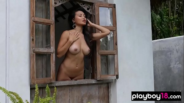 Glamorous asian and ebony babes sensual striptease Thumb